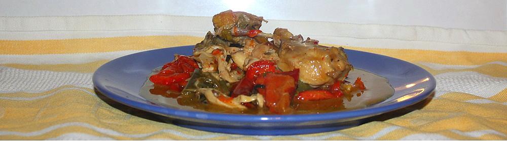 pollo spezzato ai peperoni