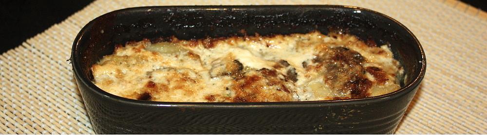 Sformato di patate toma piemontese e tartufo.