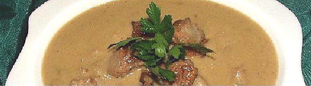 Crema di patate porcini secchi e salsiccia