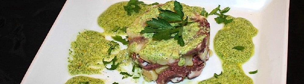 Insalatina di polpo e patate in salsa verde