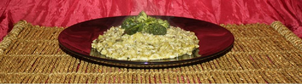 Risotto di broccoletti siciliani e acciughe