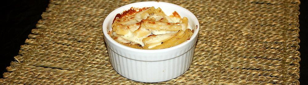 Caserecce al formaggio Marzolino e tartufo nero