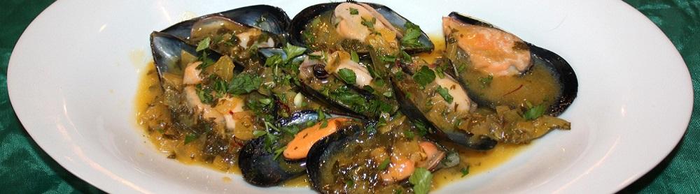 Cozze in salsa di zafferano