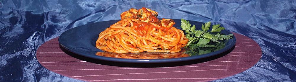Spaghetti alle cozze in sugo rosso