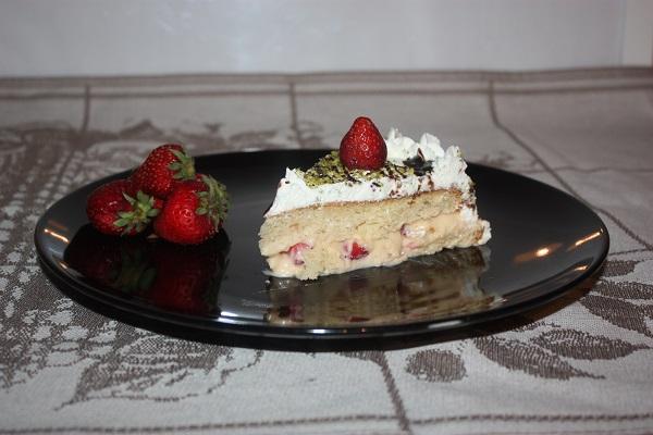 Torta fragole e panna