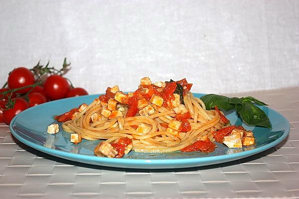 Spaghetti pomodorini e pesce spada