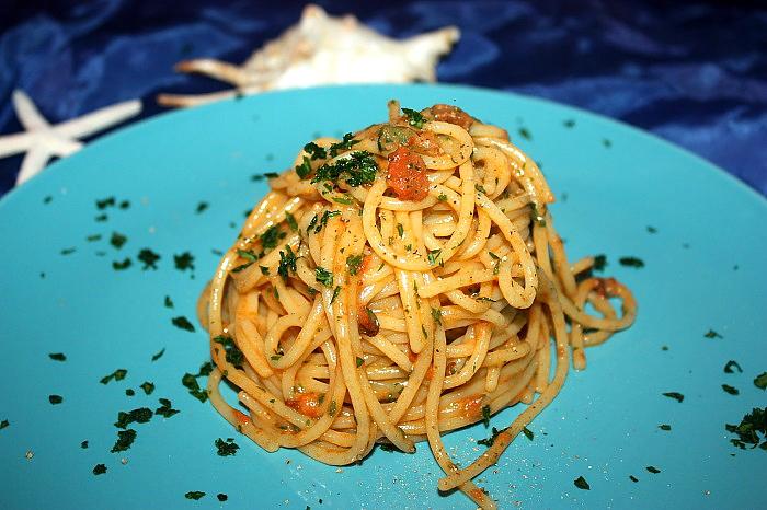 Spaghetti con le uova di ricci