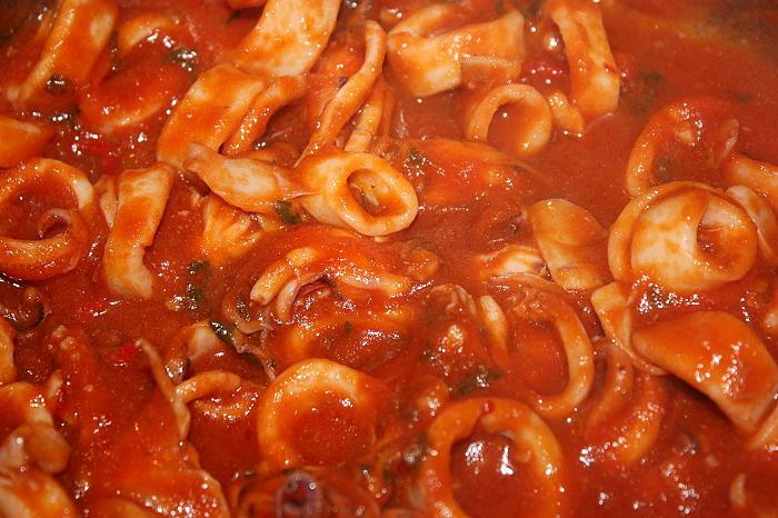 Umido piccante di calamari