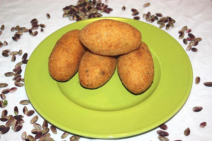 Arancini al pistacchio in tre versioni