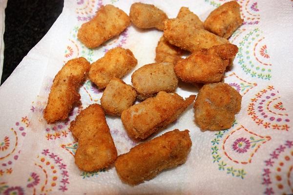Pepite di coniglio cbt fritte