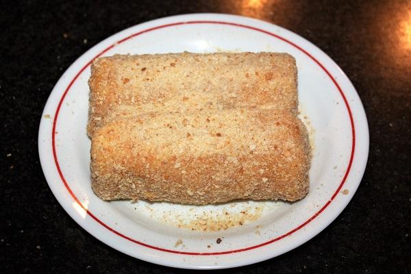Cannoli salati di pane da tramezzino
