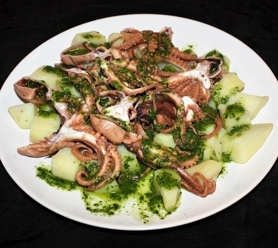insalata di moscardini e patate