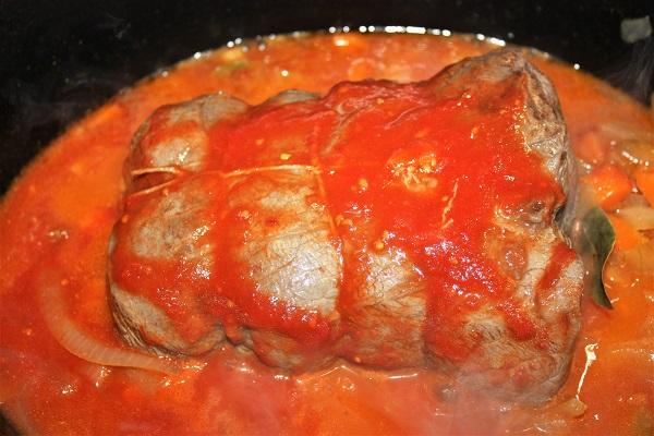 aggiunta salsa di pomodoro