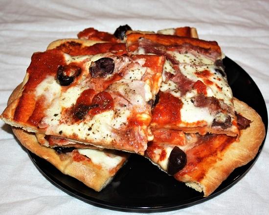 pizza bassa croccante