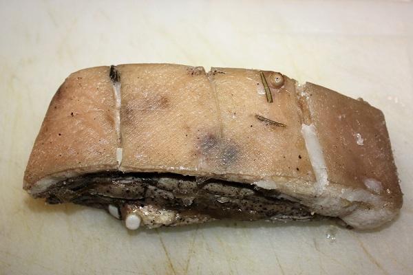 pancetta di maiale stesa in Cbt