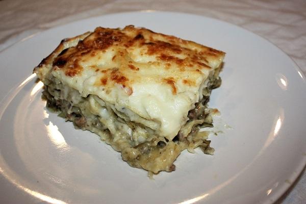 lasagne carciofi e pancetta
