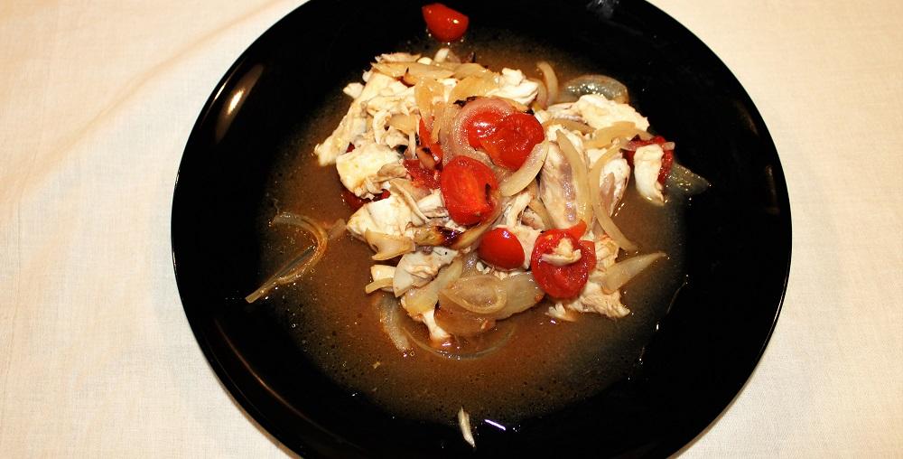 Pagro al forno con pomodorini