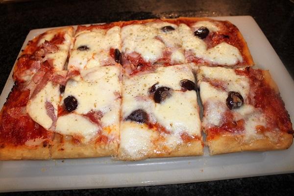 pizza bassa senza impasto